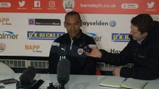 Jose Morais at his first press conference for Barnsley FC