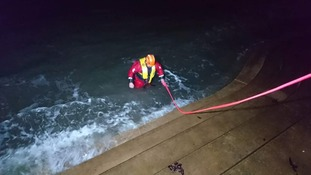 Coastguard investigates mysterious underwater light