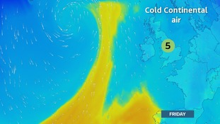 Colder, easterly flow by the end of the week
