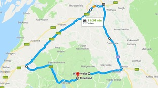 73 mile diversion set for A66 overnight closure