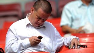 Football fans text