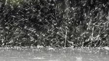 Rain drops and rain