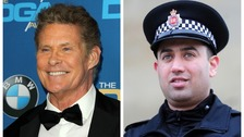 David Hasselhoff wants to meet hero PC after river rescue