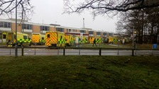Queueing ambulances