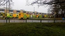 Queueing ambulances