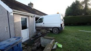 Man in court over van crash at pensioner's home