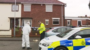 Forensic teams have been examining the property.