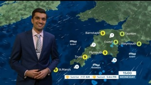 Cloud will spread across the South West today