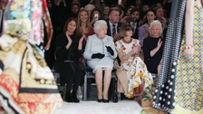 The Queen in surprise appearance at London Fashion Week