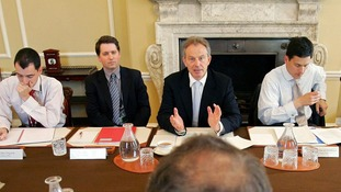 The charity boss (second left) also advised Tony Blair.
