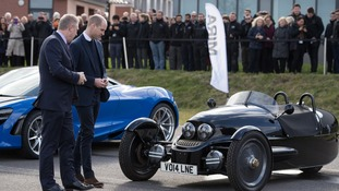 Prince William gives royal seal of approval to leading British vehicle manufacturers