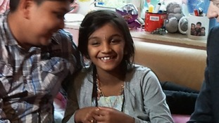 Thusha's parents pray she will walk again one day