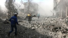 At least 260 killed in Syrian government attacks on enclave