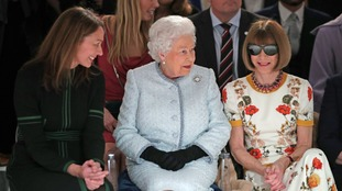 US Vogue editor Anna Wintour criticised for talking to the Queen while wearing sunglasses