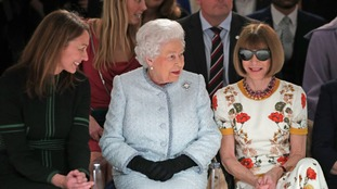 The Queen was a surprise visitor to London Fashion Week.
