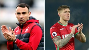 Leon Britton and Alfie Mawson