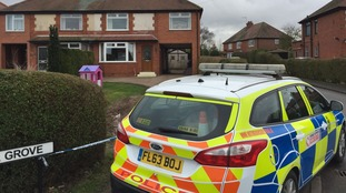 A house has been cordoned off by detectives after the death of a six-year-old girl