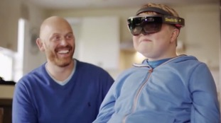 Hologram-pa! Virtual image helps with boy's sight problems