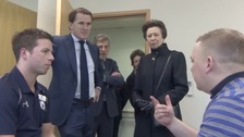 Royal visitor at centre for injured jockeys