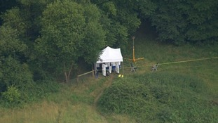 Forensic teams on the scene at East Harling in Norfolk
