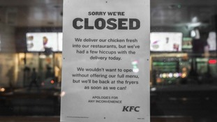 The KFC closures are expected to continue for the next few days.