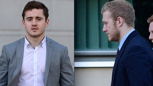 Rugby players Paddy Jackson and Stuart Olding.