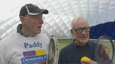 Roger and Paddy became friends on a tennis court almost 50 years ago.