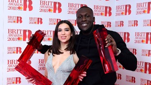 Stormzy and Dua Lipa won two Brit Awards each.
