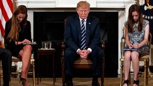 Trump proposes arming teachers after emotional meeting