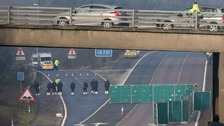 Murder arrest after body found on M20 in Kent