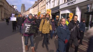 University staff strike over pensions