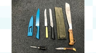 Knives surrendered in South Cumbria
