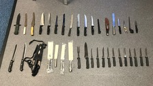 Police handed 135 knives during surrender