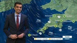 A clear but chilly day ahead in the South West