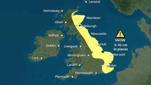 Weather warning. A lookahead to next week