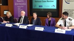 The Serious Case Review press conference at Newcastle City Council on Friday.