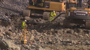 Porthcawl's 'Tarmac beach' dug up for more pleasing sea defence