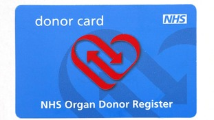 NHS Organ Donor Register card