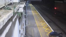 Drunk man who escaped death on train tracks is sentenced