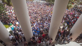 Thousands gathered in protest against gun violence in Tallahassee, Florida.