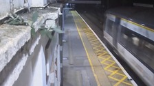 Watch: Man escapes death after lying on train tracks