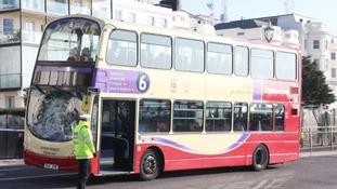 Bus crash Brighton