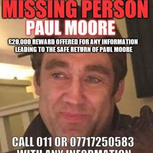Enquiries are on-going to establish Mr Moore's last known movements