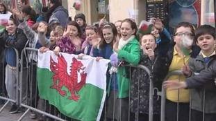 Schoolchildren in Carmarthen