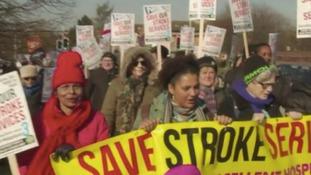 Stroke protest in Margate