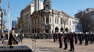 Birmingham Lord Mayor presents Freedom Scroll