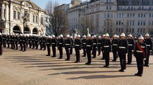 Royal Marines receive freedom of Birmingham city