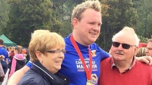 Scott Bessant with his parents
