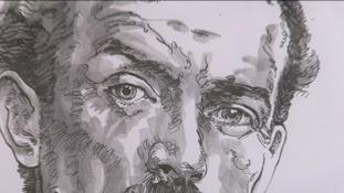 Close up of a cartoon of Lloyd George