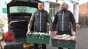 Football club donate all their food to homeless shelter after game called off